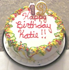 19th birthday party Katies cake