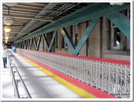 Old steel work in Edinburgh Waverley railway station.