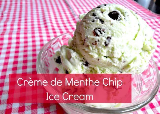 crème de menthe chip ice cream