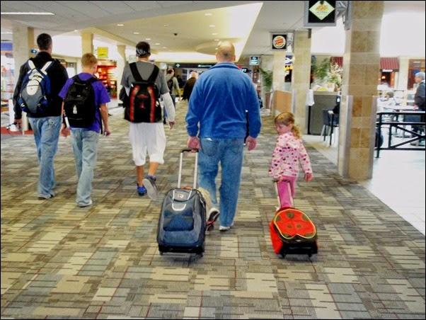 السفر مع العائلة