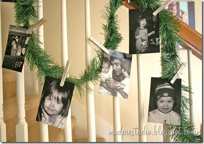 Photo Garland Tutorial by Mud Pie Studio