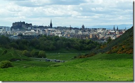 edinburgh from the queens park