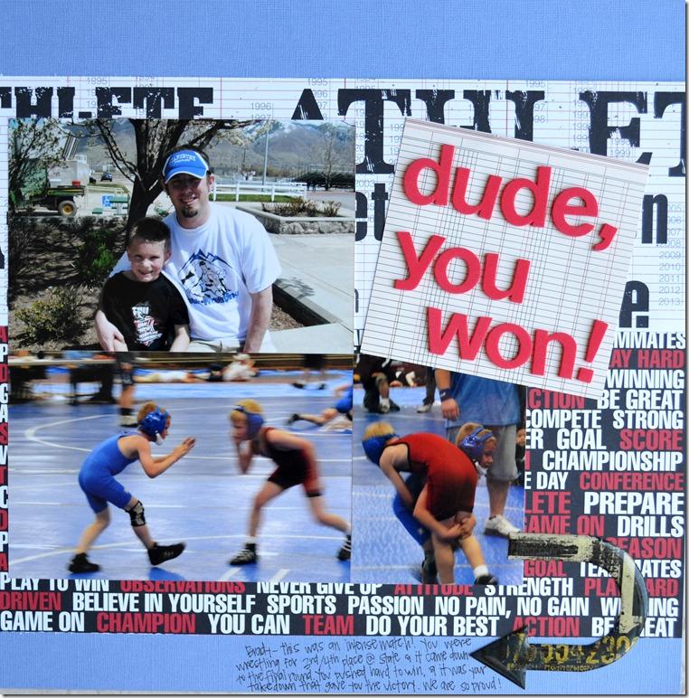 Dude, you won!