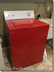 washer dryer makeover - The Backyard Farmwife