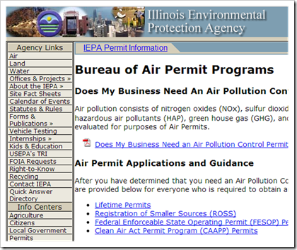 Illinois Environmental Protection Agency Bureau of Air Permit Programs Title V
