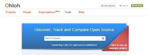 Ohloh il motore di ricerca per progetti open source