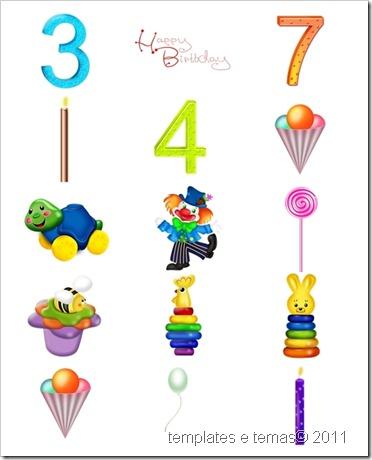 Cliparts variados para aniversario