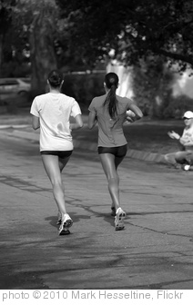 'Girls running in B&W' photo (c) 2010, Mark Hesseltine - license: http://creativecommons.org/licenses/by-nd/2.0/