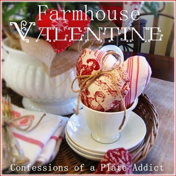 CONFESSIONS OF A PLATE ADDICT Simple Farmhouse Valentine Centerpiece