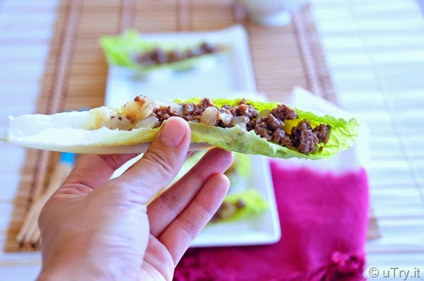 Minced Beef Lettuce Boats (免治牛肉生菜船)  http://uTry.it