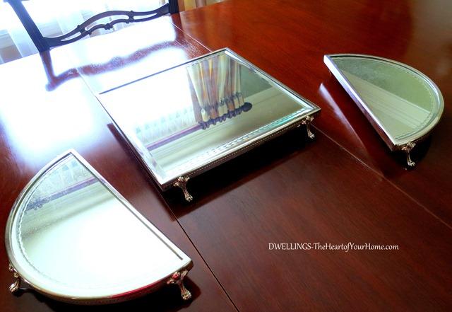 DWELLINGS mirrored plateau