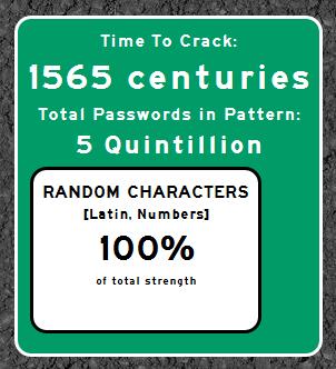 "1565 centuries to crack the password ""00455455mb17"""