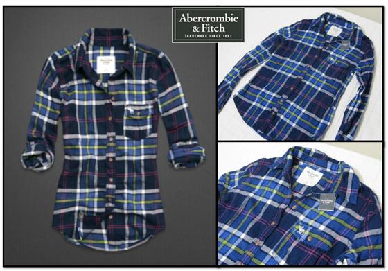 Abercrombie & Fitch - Camisa xadrez