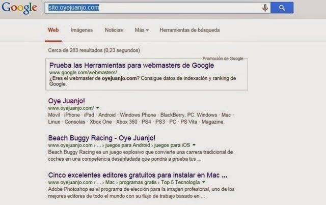#7. Encuentra tus posts indexados en Google