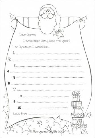 christmas list template .