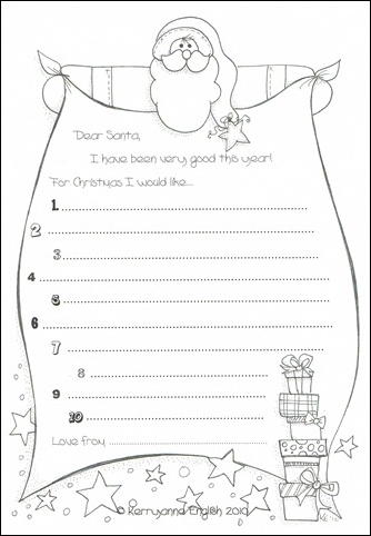 click here to download a santa wish list for the kids to colour