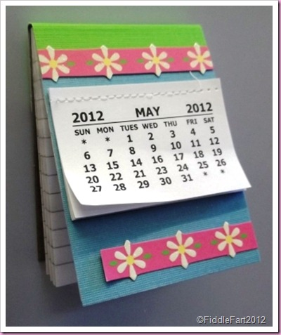 Fridge Magnet Calendar Notebook