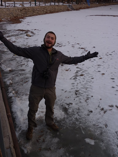 Just a quick reminder, it is quite cold in February, this is a frozen lake!