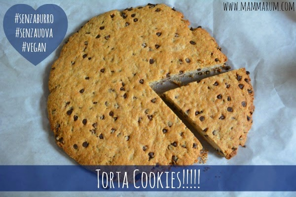 torta cookies gocce cioccolata