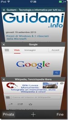 iOS 7 Safari chiudere pagine internet