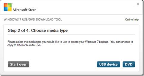 Scegliere chiavetta USB o DVD