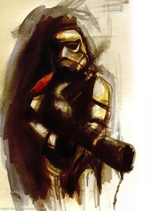 pinturas star wars aquarela desbaratinando  (7)