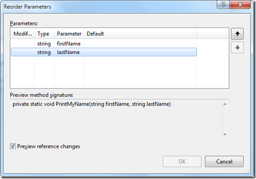 ReorderParameterDialog