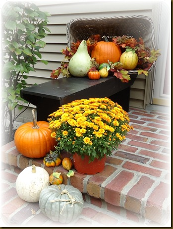 Basket on porch
