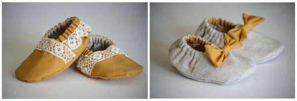 reversible baby booties