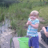 My niece, Cassie, fishing with her Daddy.
