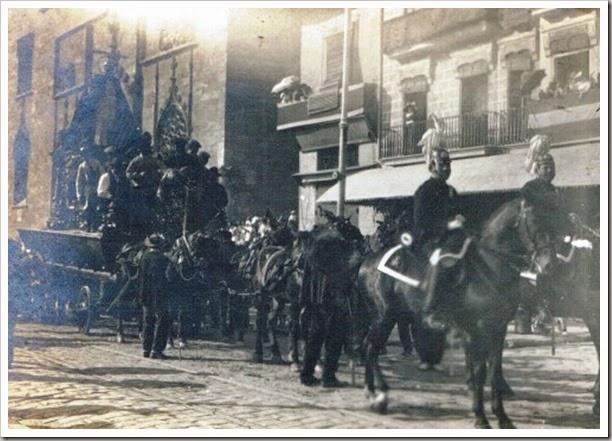 Procesión del Corpus. Plaza del Mercado, 1923