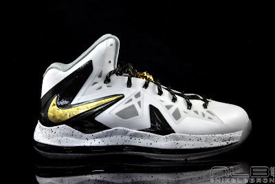 lebron10 ps elite white gold 29 web black The Showcase: Nike LeBron X P.S. Elite+ White & Gold