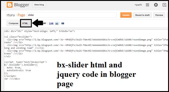 add-bxslider-in-blogger-page