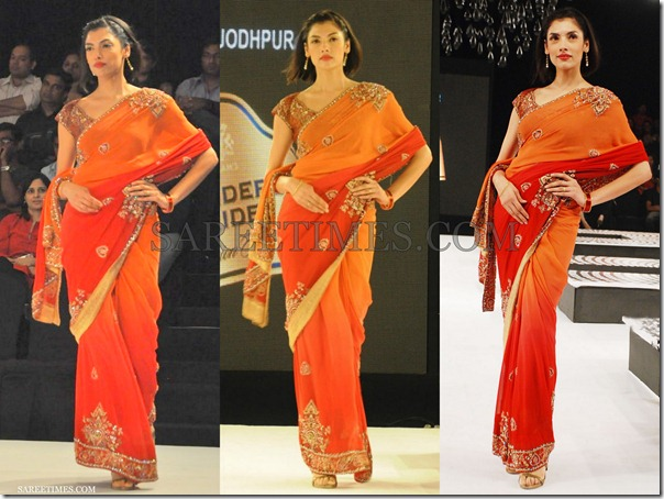 Raghavendra_Rathore_Orange_Red_Embroidery_Saree