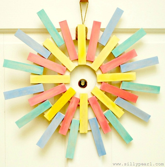 Spring Sunburst Wreath -- The Silly Pearl