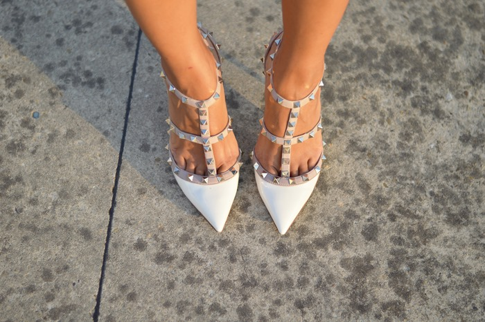 Valentino, Valentino Shoes, Valentino White Shoes, Valentino Rockstud, White Rockstud