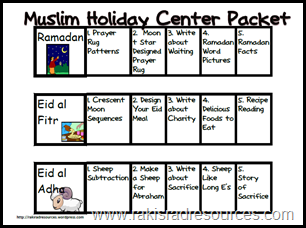 Free muslim holiday packet