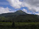 Gunung Talang from the start of the trail in Bukit Sileh (Daniel Quinn, June 2011)