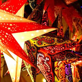 Vibrant by Avijit Jana - Novices Only Street & Candid ( lights, vibr, colourful, stars, shopping )