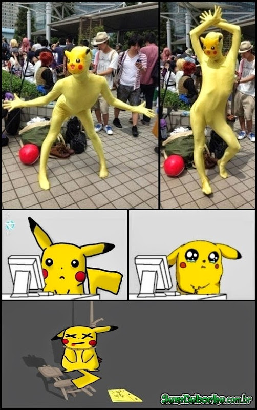 O PIOR COSPLAY DE PIKACHU DO MUNDO!