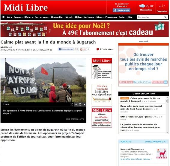 Protestacion contra Notre-Dame-des-Landes
