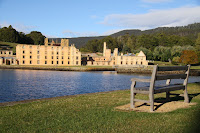 Seat overlooking Port Arthur