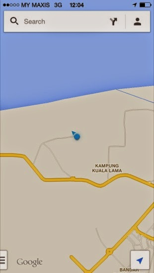 Google maps show that Mukah Airport is not in the sea...