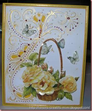 carte designable fleurs