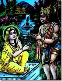 [Sita and Hanuman]