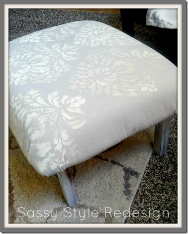 How to turn an old table into an ottoman with sassy style redesign