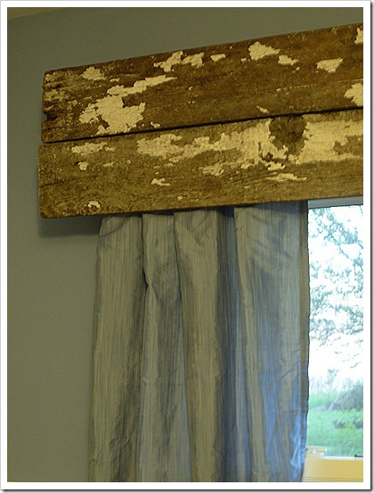 wood scrap valance tutorial
