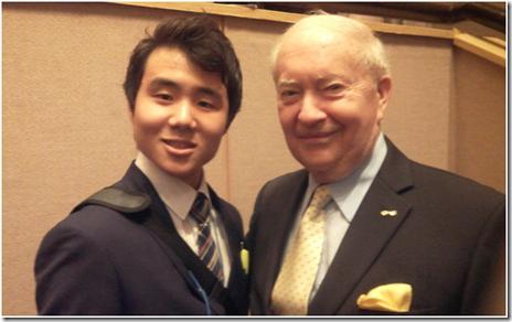 Cho WonHa and Dr.John E. Endicott
