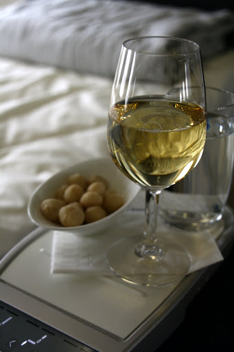 Champagne and macadamia nuts