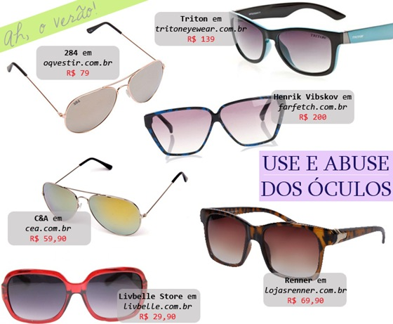 Óculos femininos de Sol: Aviador, coloridos e estampados.